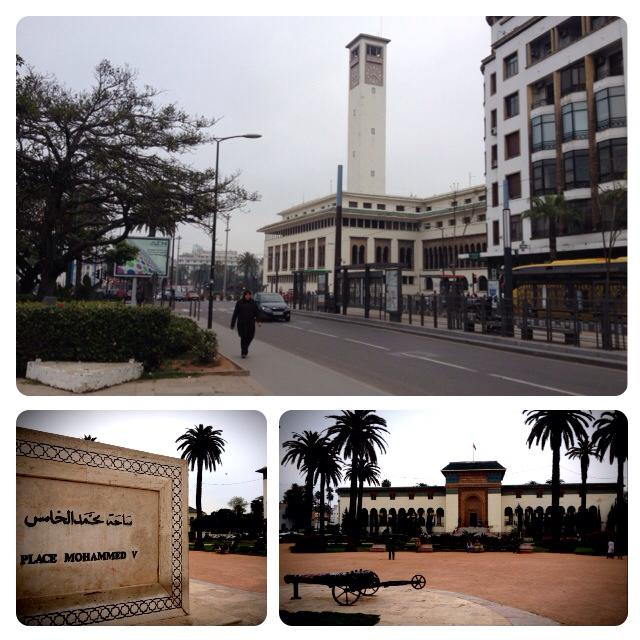 Praça Mohammed V em Casablanca