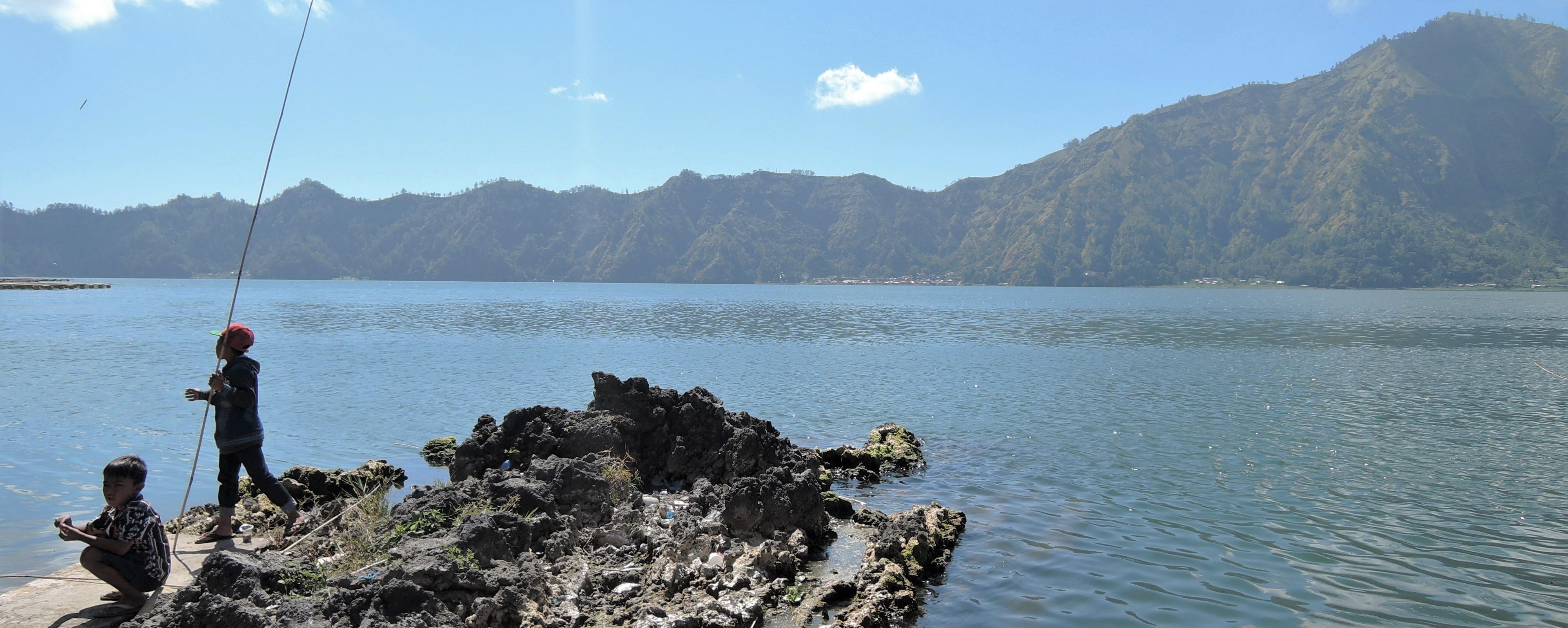 Lago Batur em Bali